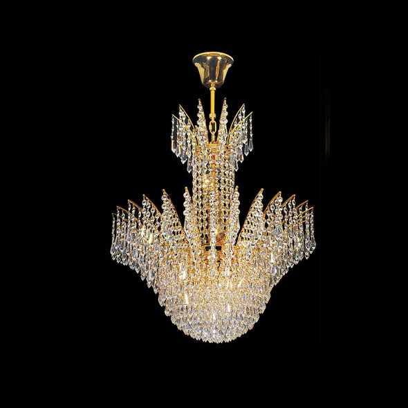 Decorative 8 Light Ceiling Crystal Chandelier in Gold