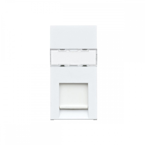 Logic Plus K5845 RJ45 Euro Module CAT5e Ethernet Outlet in White Finish