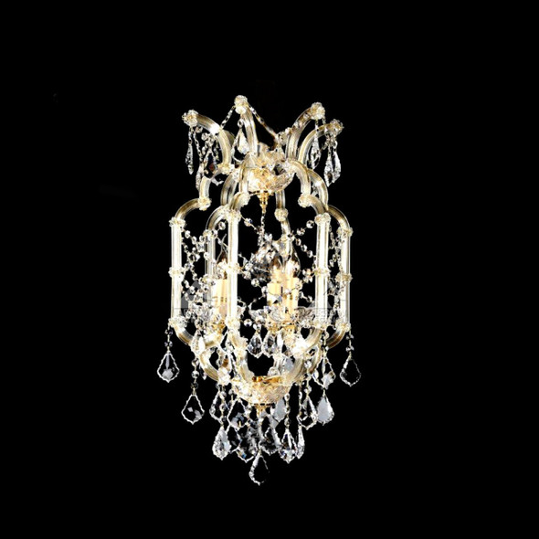 Decorative 3 Light Ceiling Crystal Pendant Chandelier in Champagne