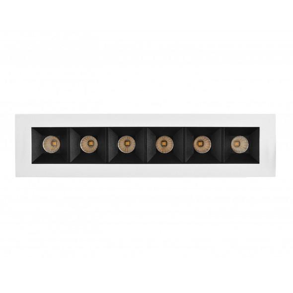 Arrow Square 12W Dimmable LED Downlight in Matt White 3000K Warm White