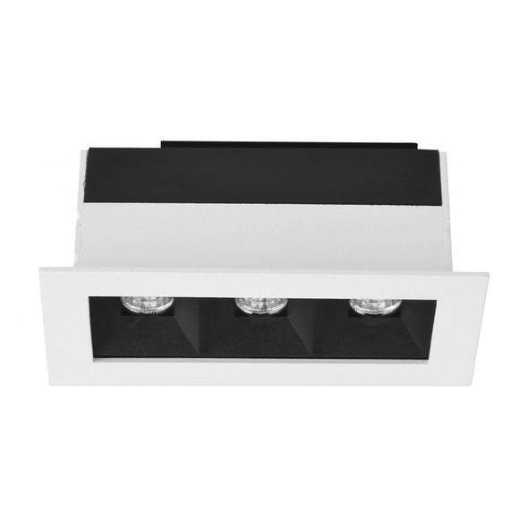 Arrow Square 6W Dimmable LED Downlight in Matt White 3000K Warm White