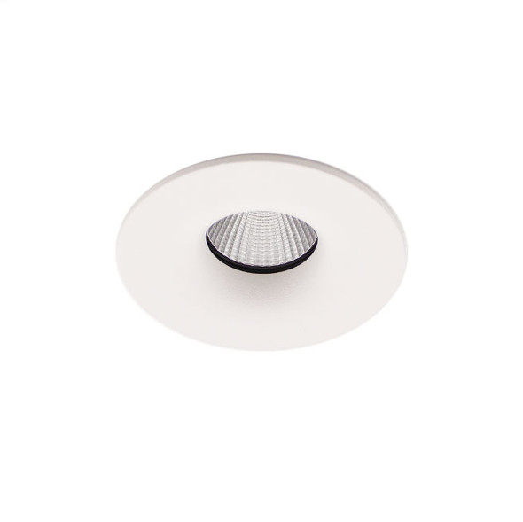 Fixed 10W Dimmable LED Downlight 4000K IP65 & Fire Rated in Matt White Low Profile