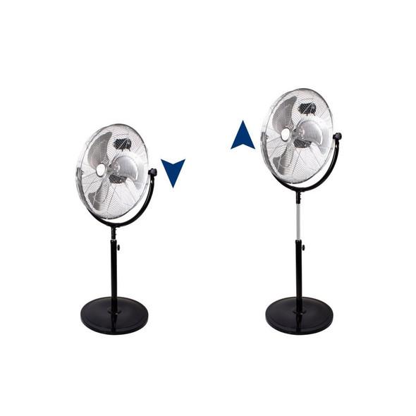 """Chrome 18"""" Industrial Floor Standing Pedestal Fan 3 Speed 110w"""