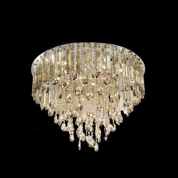 Decorative 21 Light 65cm LED + G4 Ceiling Crystal Chandelier in Gold