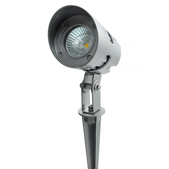 10W LED IP66 Outdoor & Garden Spike Light in Silver Finish