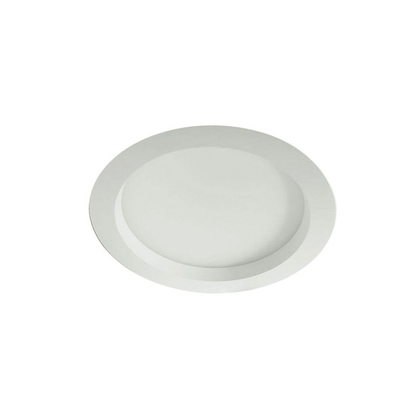 28W Dimmable 215mm LED Recessed Downlight in Matt White IP65 3000K Warm White