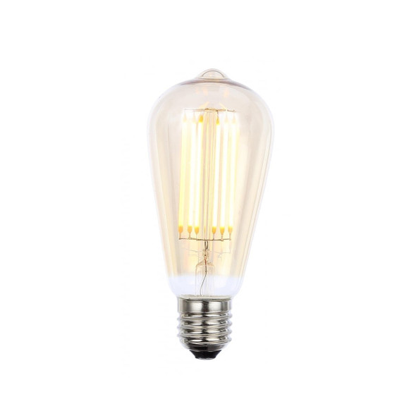 Dimmable LED Vintage Tinted Cone Filament 6 Watt Lamp in Warm White 2200K
