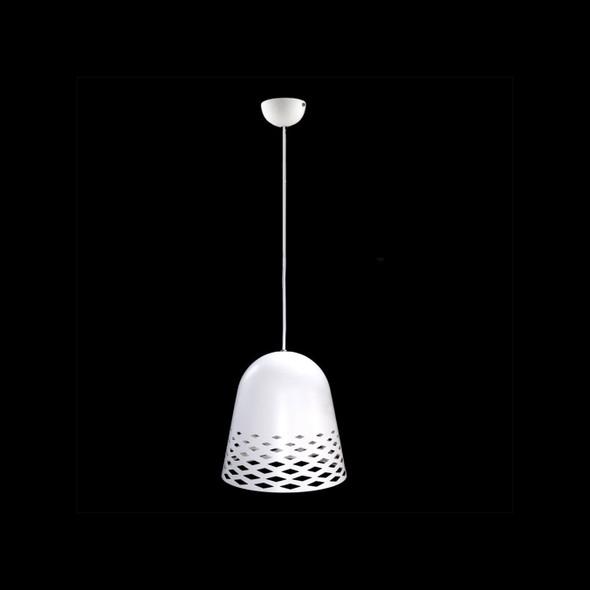 Diamond Cut Out Modern Ceiling Pendant Light in Matt White