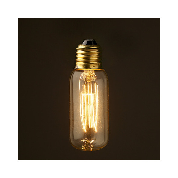 E27 Short Tube Vintage Clear Squirrel Cage Style Filament Bulb 40 Watt