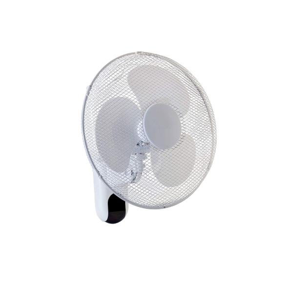 "16"" Wall Mounted Fan Remote Controlled 3 Speed Oscillating Fan"