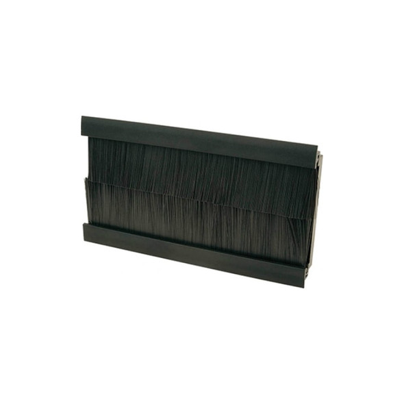 4 Module Euro Black Brush Insert 100mm