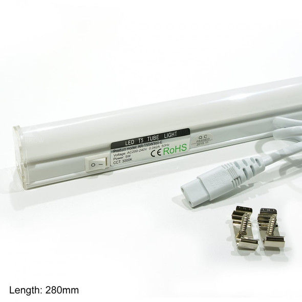 T5 LED 5w Tube Light 3000K Warm White 280mm