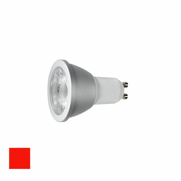 6 Watt Red LED GU10 Dimmable LED Bulb