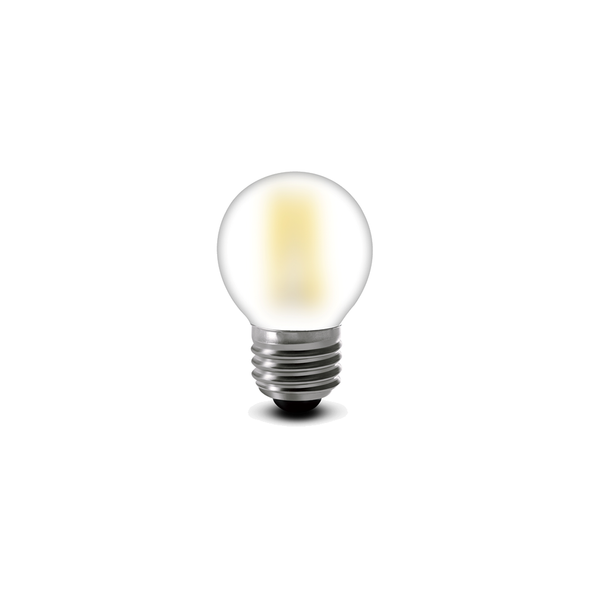 5 Watt Dimmable LED Filament Golf Ball Lamp in Warm White 2700K E27 Edison Screw Pearl Glass