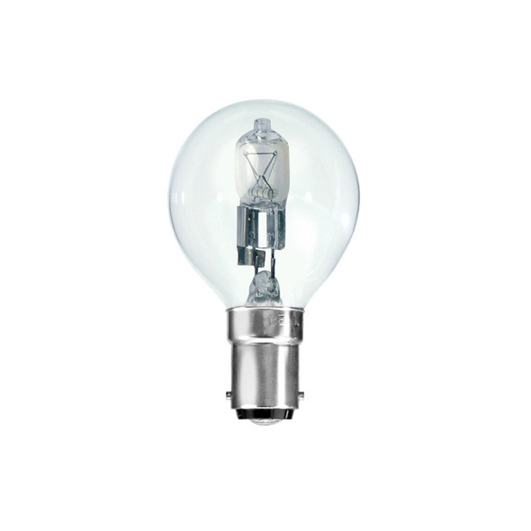 28 Watt SBC B15 Small Bayonet Cap Clear Golf Ball Energy Saving Halogen Bulb
