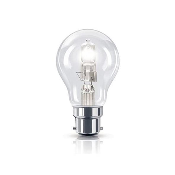 42 Watt BC B22 Bayonet Cap Clear Golf Ball Energy Saving Halogen Bulb