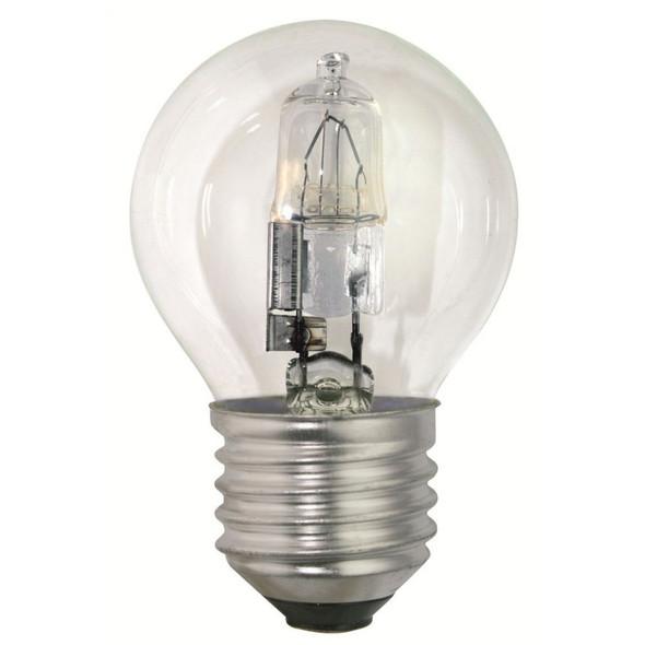 42 Watt ES E27 Clear Golf Ball Energy Saving Halogen Bulb