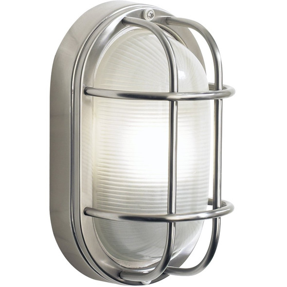 Salcombe Large Oval Stainless Steel Outdoor Wall Light