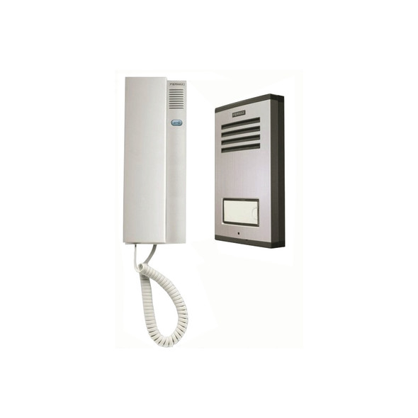 1502 1 Way Audio Intercom Kit with Mini Outdoor Panel and CITYMAX Telephone