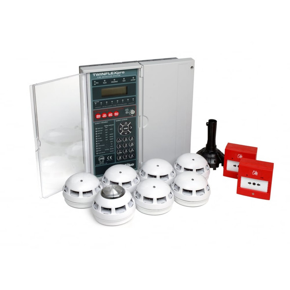 604-0004 TWINFLEX Pro 4-Zone Boxed Fire Alarm System