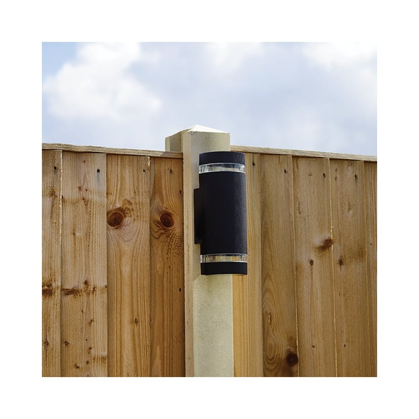 Helios Up/Down IP44 Outdoor Wall Light in Black