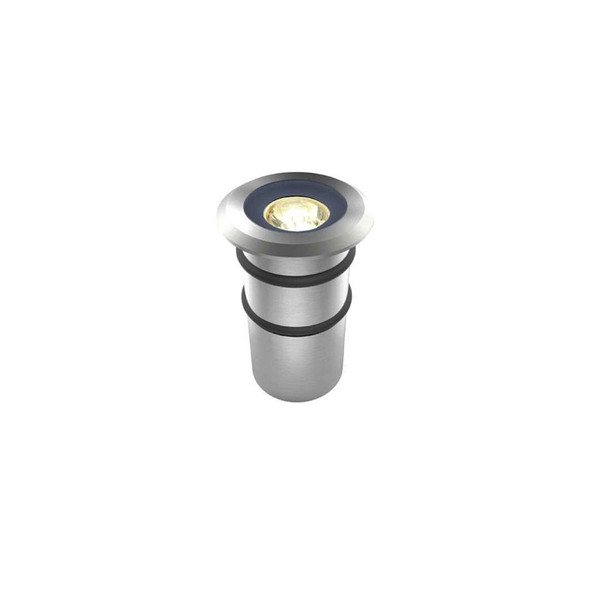 1w Mini Ground LED Outdoor Decking or Wall Light in 316 3000K IP68