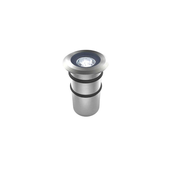 1w Mini Ground LED Outdoor Decking or Wall Light in 316 6000K IP68