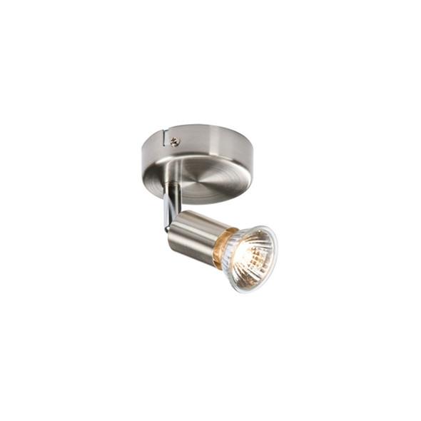 NSPGU1BC Single GU10 Ceiling Spotlight in Brushed Chrome