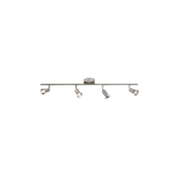 4 Light GU10 Ceiling Bar Spotlight in Brushed Chrome