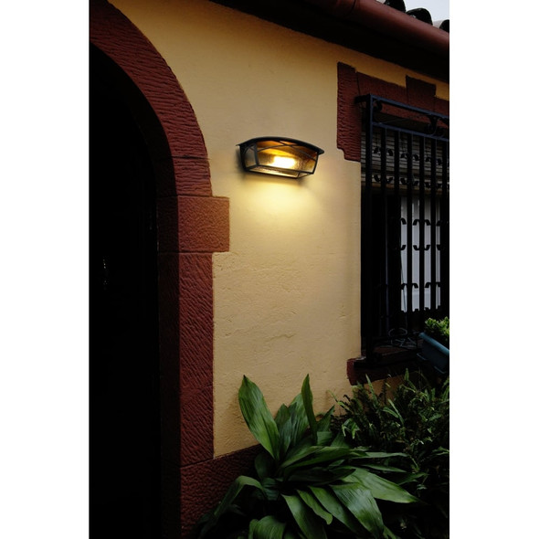 Alba 05-9351-18-AA 100W Outdoor Wall Light in Oxide Brown IP23