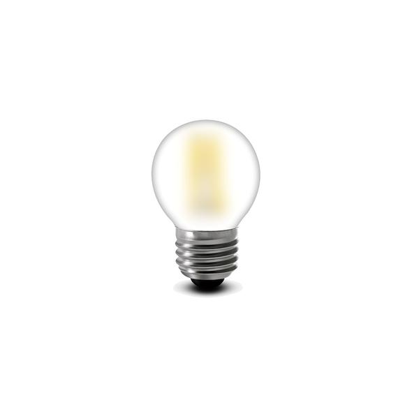 3.5 Watt Retro LED Filament Golf Ball Bulb in Daylight White E27 Edison Screw Opal Glass