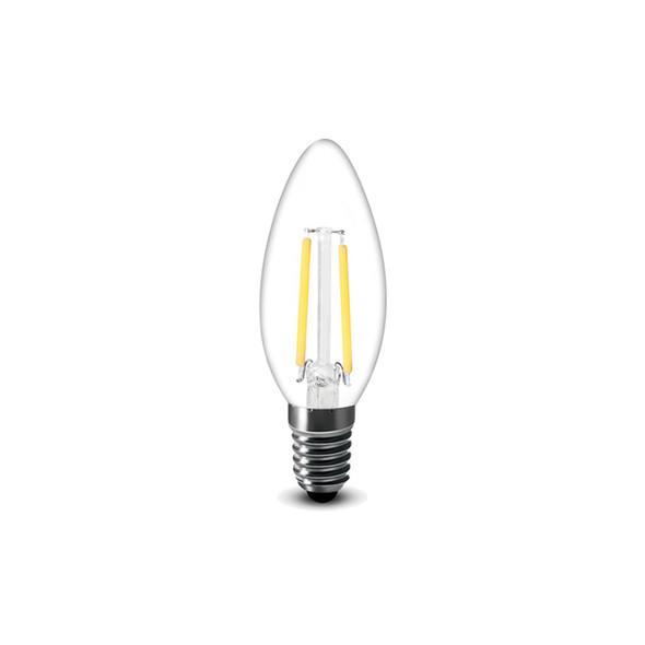 1.8 Watt Retro LED Filament Candle Bulb in Warm White E14 Edison Screw