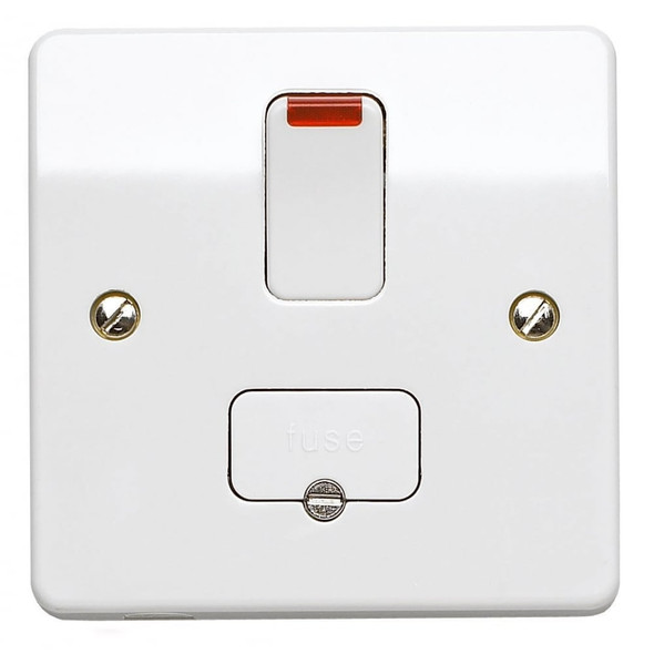 Logic Plus K1060 13 Amp Neon Switched Fused Spur Connection Unit in White