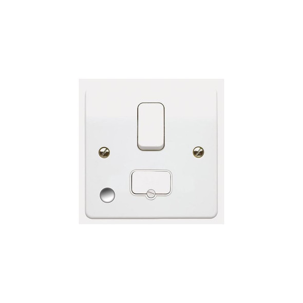 Logic Plus K1030 13 Amp Switched Fused Spur Connection Unit with front Flex Outlet in White