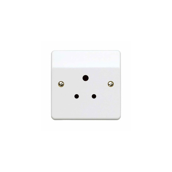 Logic Plus K771 WHI 5 Amp Unswitched Round Pin Socket in White