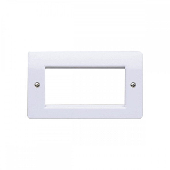 Logic Plus K184 2 Gang 4 Module Euro Plate 100 x 50mm in White
