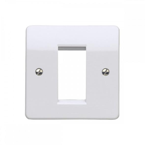 Logic Plus K181 1 Gang 1 Module Euro Plate 25 x 50mm in White
