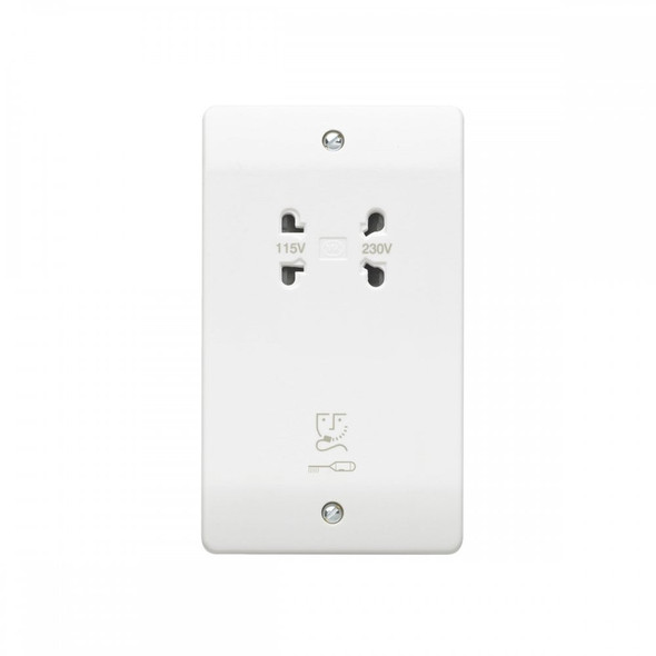 Logic Plus K701 WHI Shaver Supply Unit Dual Voltage 115/230V in White