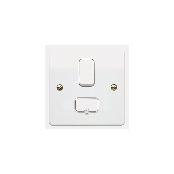 Logic Plus K1040 13 Amp Switched Fused Spur Connection Unit in White