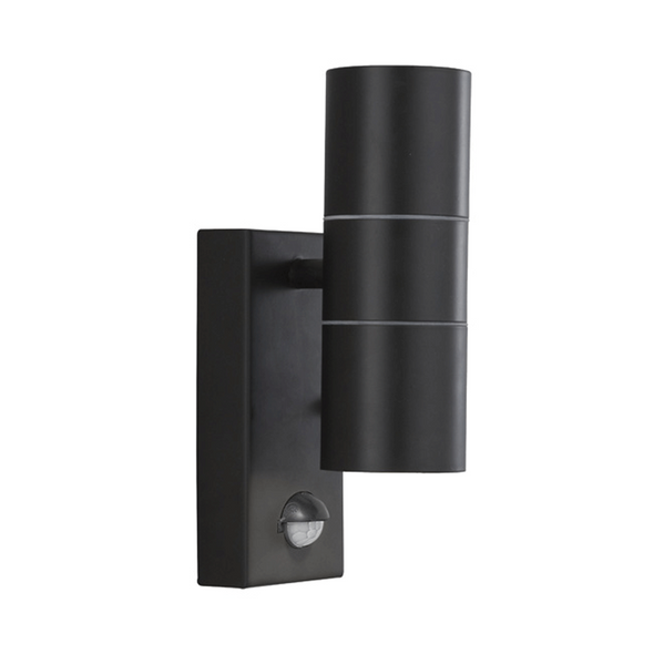 Outdoor Wall Light with Motion Sensor in Black
