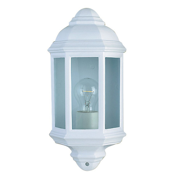 280WH Outdoor / Porch Wall Light in White IP44