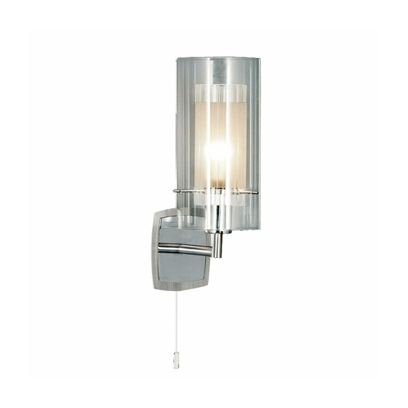 2300-1 Duo 1 Switched Wall Light in Satin Silver / Chrome