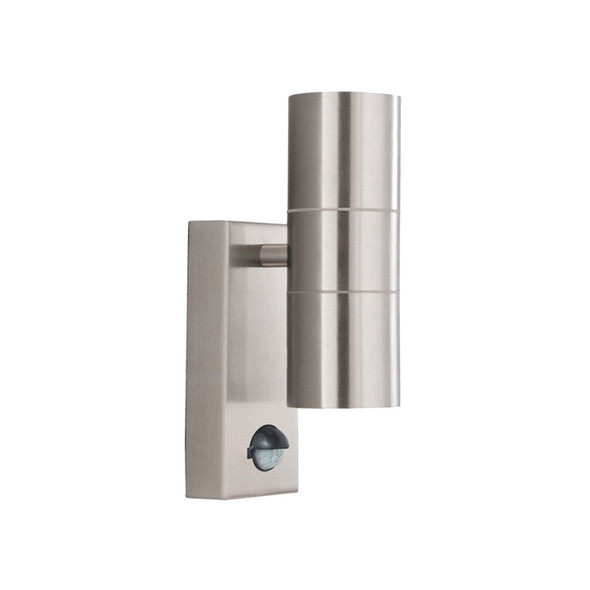 7008-2SS Outdoor Wall Light with Motion Sensor in Stainless Steel