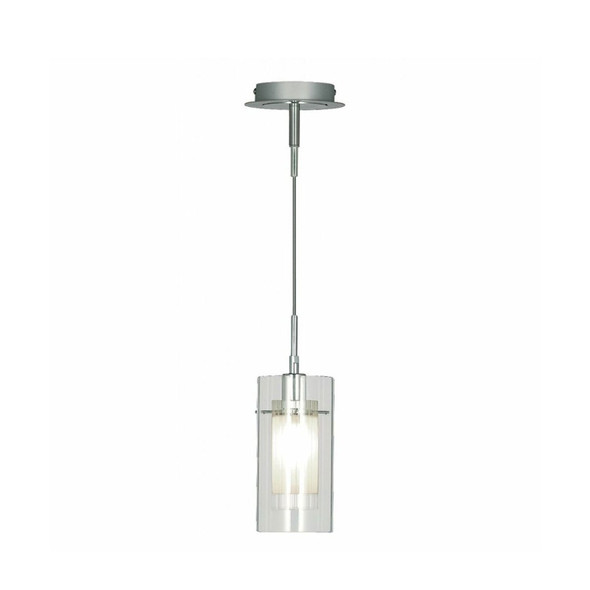 2301 Duo 1 1-Light Ceiling Pendant in Satin Silver