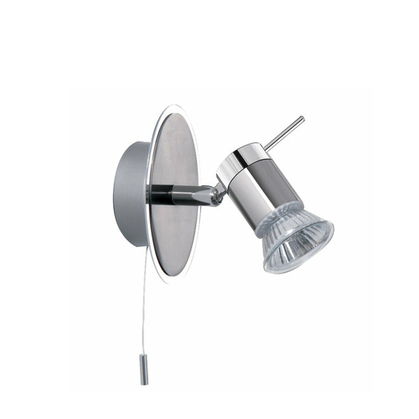 7441CC Aries Bathroom Wall Spotlight in Satin Chrome