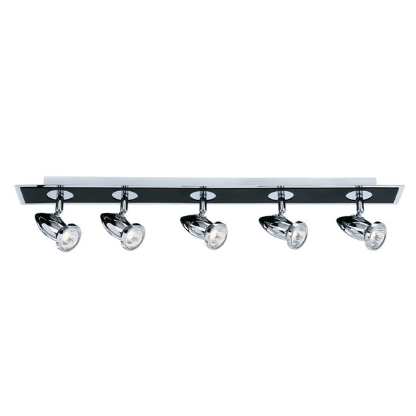 7495 Comet 5-Light Ceiling Spotlight Bar in Black / Chrome