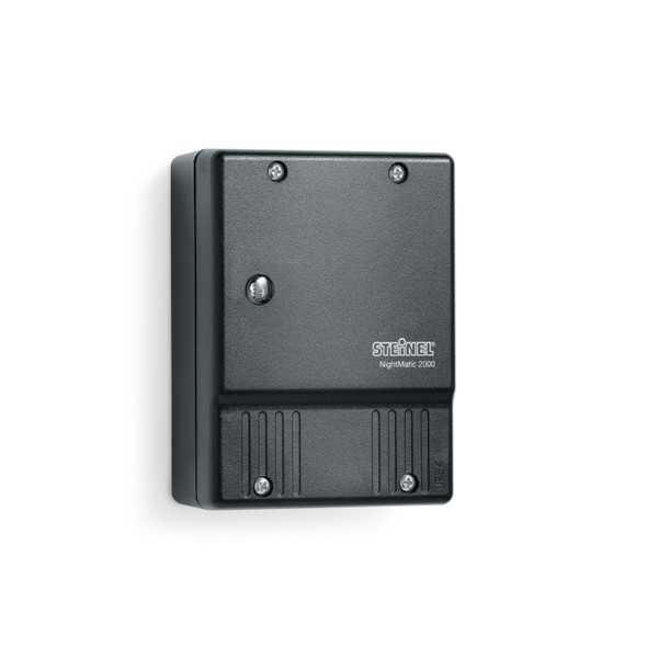 Steinel NightMatic 2000 Photoelectric Lighting Controller in Black IP54
