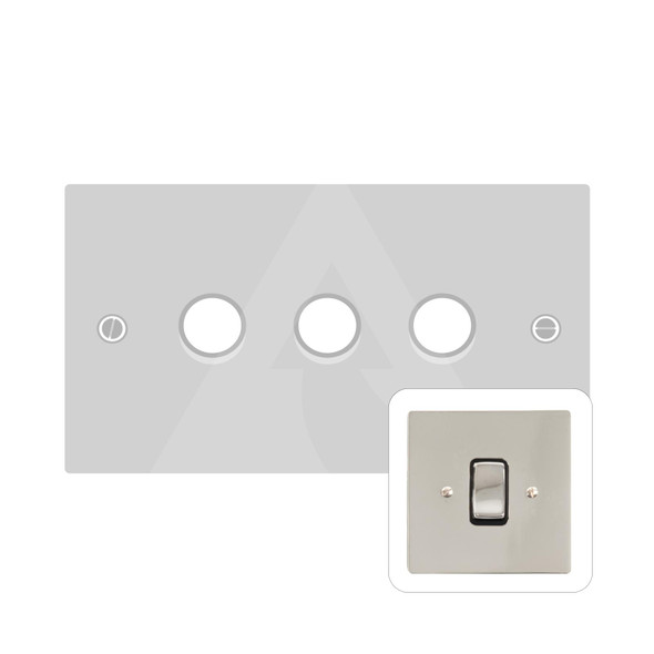 Stylist Grid Range 3 Gang LED Dimmer in Polished Nickel -  - Trimless - L08.380.TED