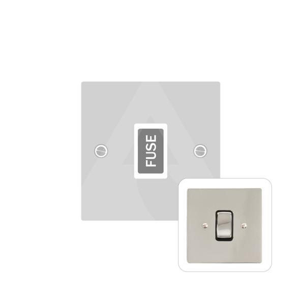 Stylist Grid Range Unswitched Spur (13 Amp) in Polished Nickel -  - White Trim - L08.3650.W