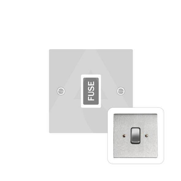 Stylist Grid Range Unswitched Spur (13 Amp) in Satin Chrome -  - White Trim - L03.3650.W